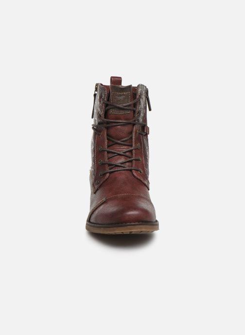Bottines et boots Mustang shoes Karin Bordeaux vue portées chaussures