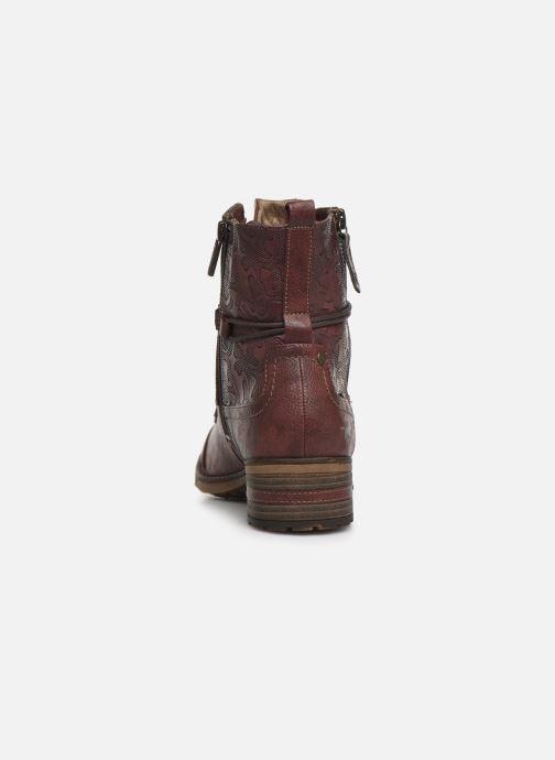 Boots en enkellaarsjes Mustang shoes Karin Bordeaux rechts