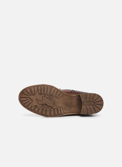 Bottines et boots Mustang shoes Karin Bordeaux vue haut