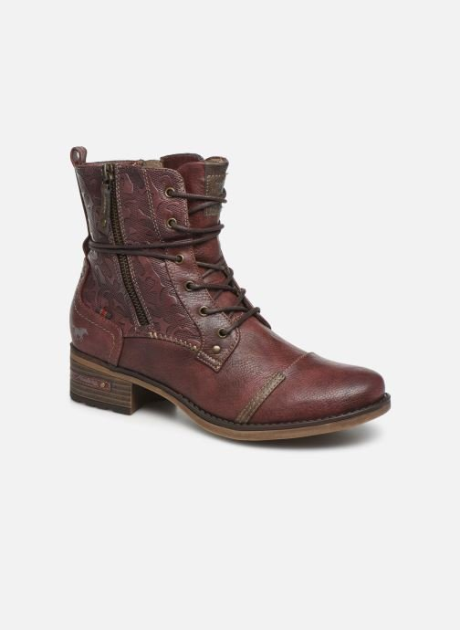 Boots en enkellaarsjes Mustang shoes Karin Bordeaux detail