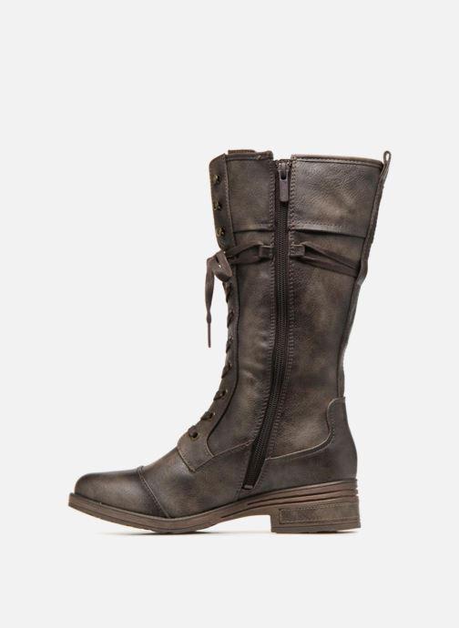 Bottes Mustang shoes Aglae Marron vue face