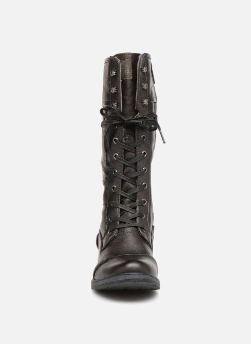 Bottes Mustang shoes Aglae Marron vue portées chaussures