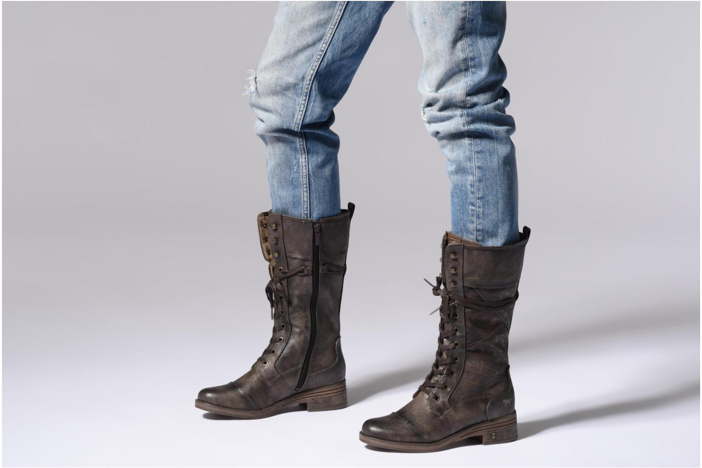 Bottes Mustang shoes Aglae Marron vue bas / vue portée sac
