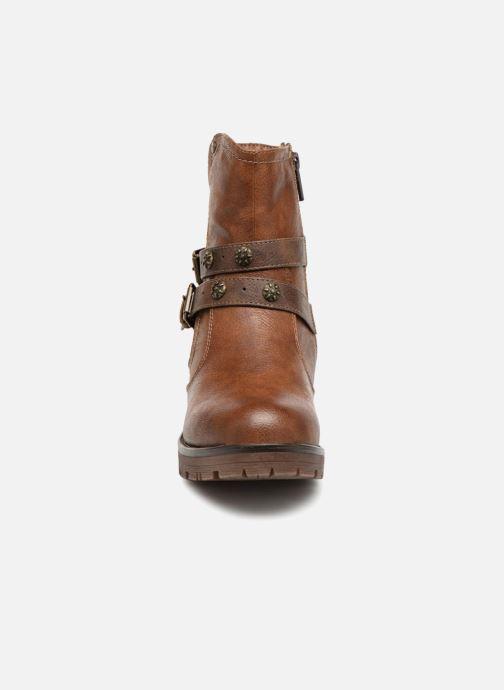 Bottines et boots Mustang shoes Kourtney Marron vue portées chaussures
