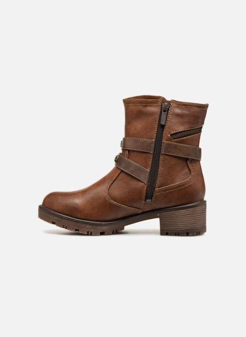 Bottines et boots Mustang shoes Kourtney Marron vue face