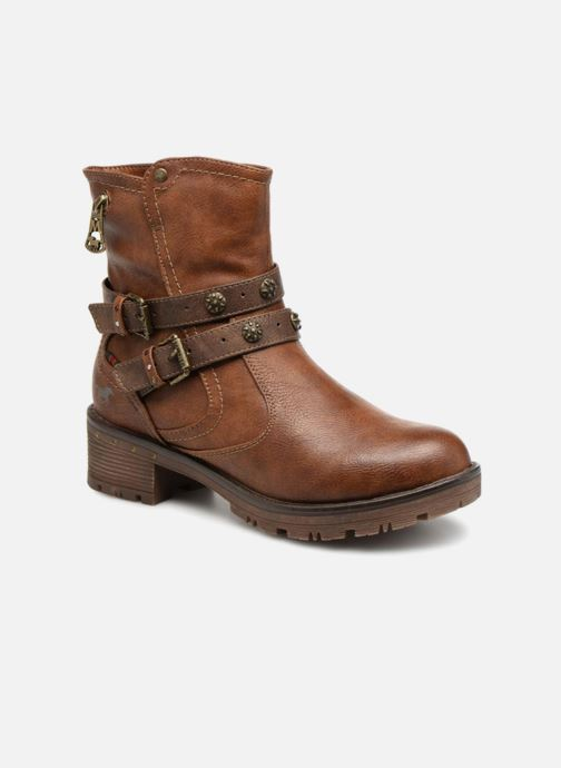 Bottines et boots Mustang shoes Kourtney Marron vue détail/paire