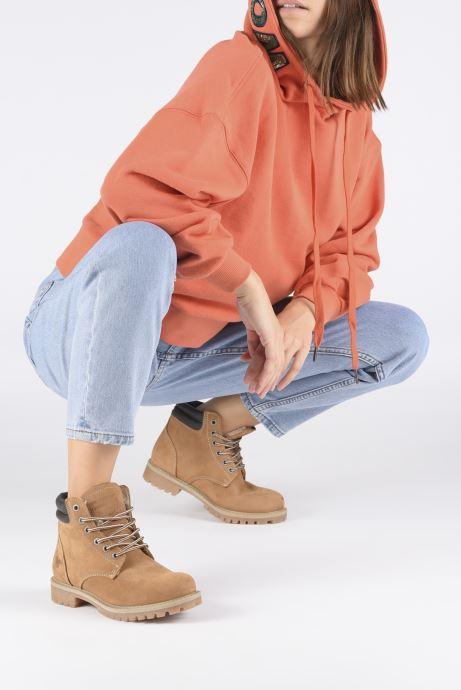 Bottines et boots Mustang shoes Michele Marron vue bas / vue portée sac