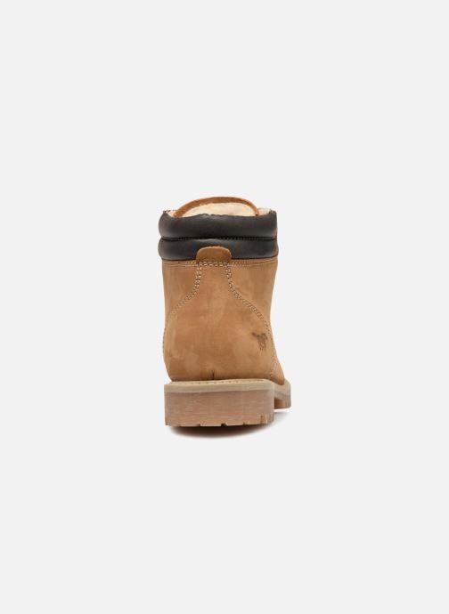 Bottines et boots Mustang shoes Michele Marron vue droite