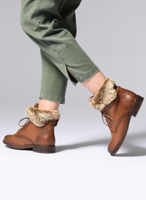 Bottines et boots Mustang shoes Sofie Marron vue bas / vue portée sac