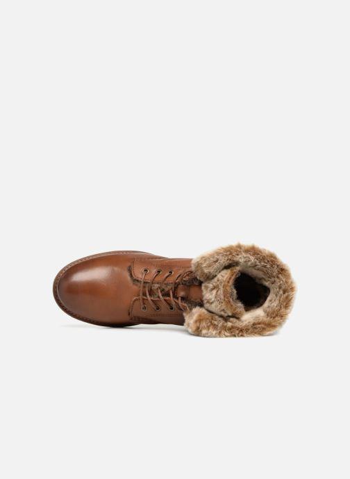 Boots en enkellaarsjes Mustang shoes Sofie Bruin links