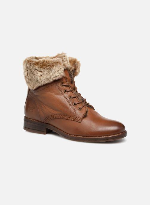 Bottines et boots Mustang shoes Sofie Marron vue détail/paire