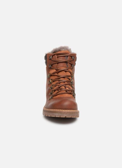 Stiefeletten & Boots Mustang shoes Melania braun schuhe getragen