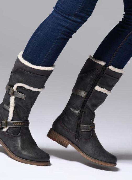 Bottes Mustang shoes Isa Gris vue bas / vue portée sac