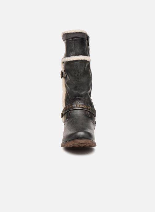 Bottes Mustang shoes Isa Gris vue portées chaussures