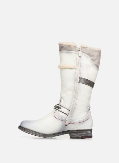 Bottes Mustang shoes Isa Blanc vue face