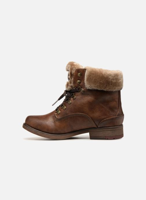 Boots en enkellaarsjes Mustang shoes Bianca Bruin voorkant