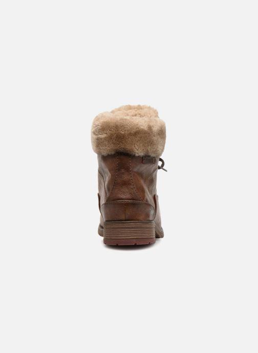 Bottines et boots Mustang shoes Bianca Marron vue droite