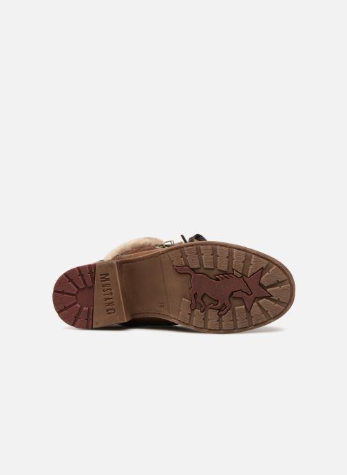 Bottines et boots Mustang shoes Bianca Marron vue haut