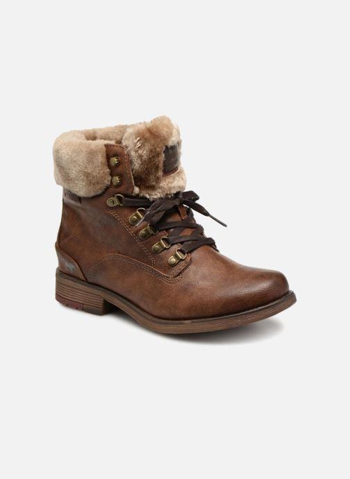 Bottines et boots Mustang shoes Bianca Marron vue détail/paire