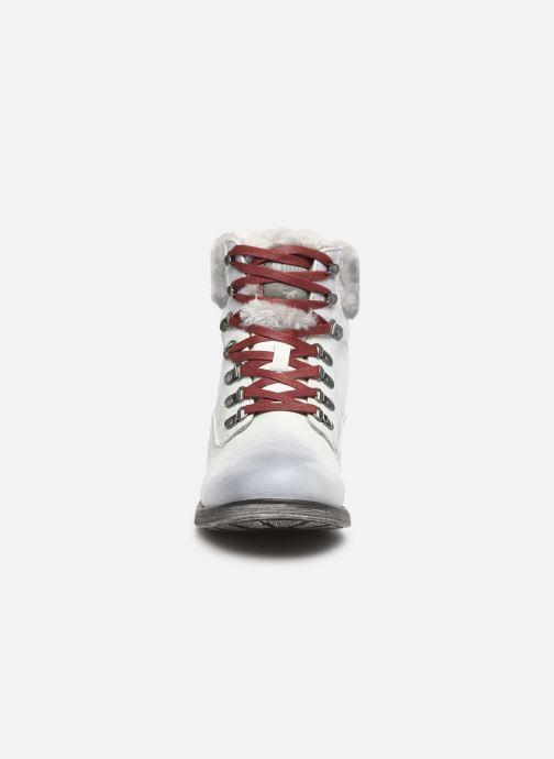 Bottines et boots Mustang shoes Bianca Blanc vue portées chaussures
