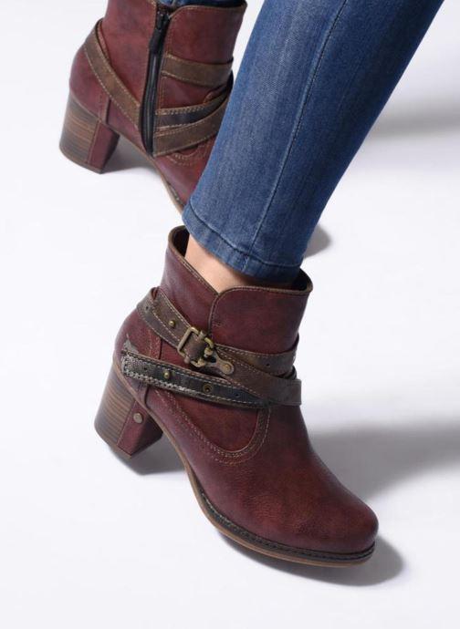 Bottines et boots Mustang shoes Vilou Bleu vue bas / vue portée sac
