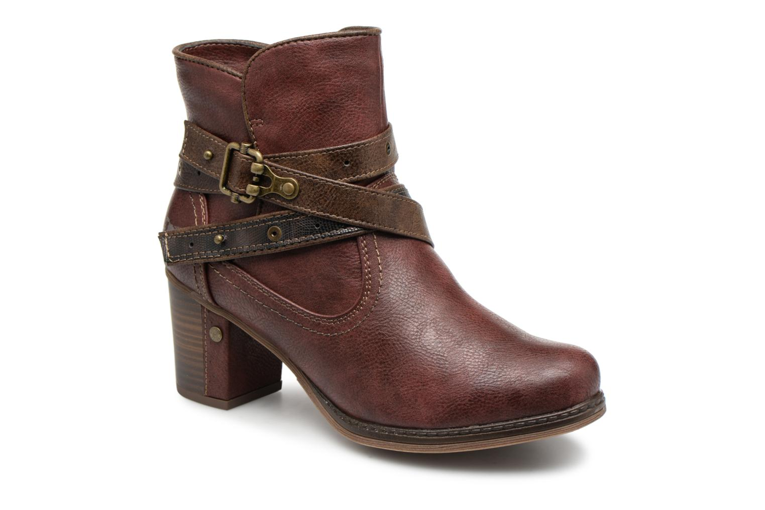 Mustang shoes Ankle Vilou (Burgundy) - Ankle shoes boots chez (345130) 745534