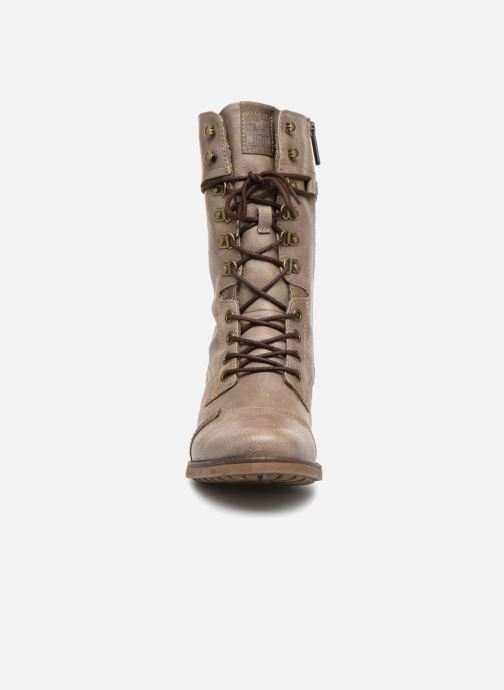 Bottes Mustang shoes Morvan Marron vue portées chaussures