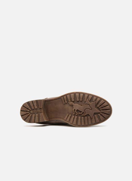Bottes Mustang shoes Morvan Marron vue haut