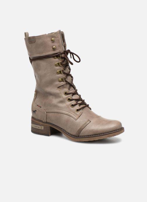 Bottes Mustang shoes Morvan Marron vue détail/paire