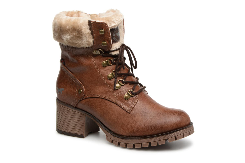 Boots en enkellaarsjes Mustang shoes Nouri Bruin detail