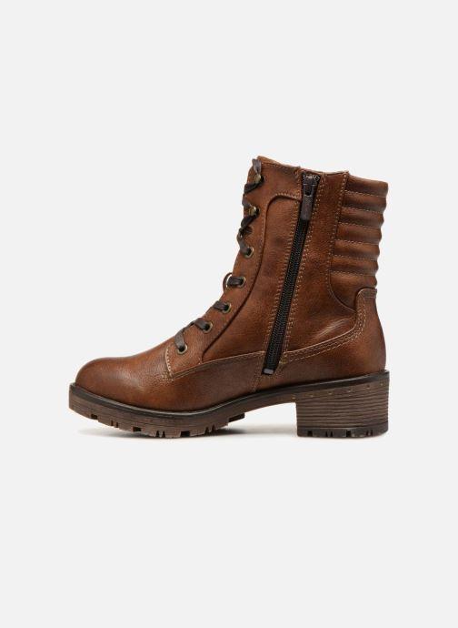 Bottines et boots Mustang shoes Lara Marron vue face