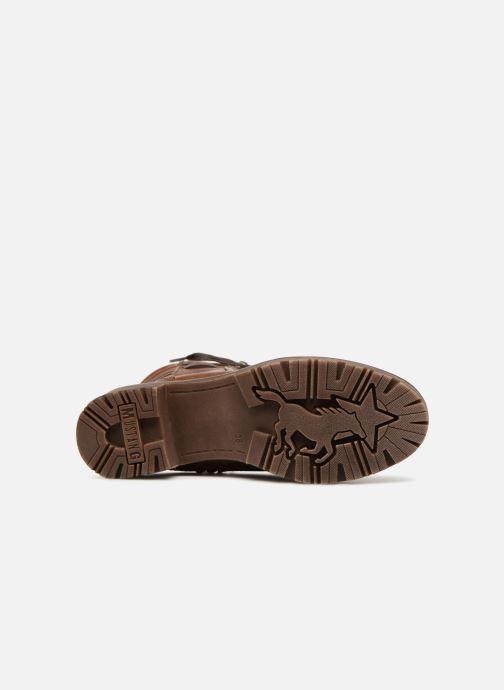Bottines et boots Mustang shoes Lara Marron vue haut