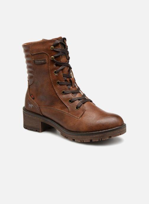 Bottines et boots Mustang shoes Lara Marron vue détail/paire