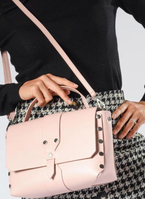Sacs à main L37 Wow bag Rose vue bas / vue portée sac