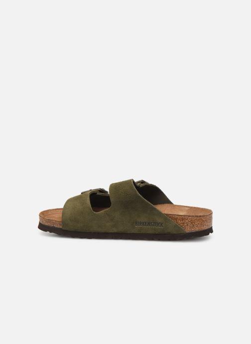 Mules et sabots Birkenstock Arizona Cuir Suede Soft Footbed W Vert vue face