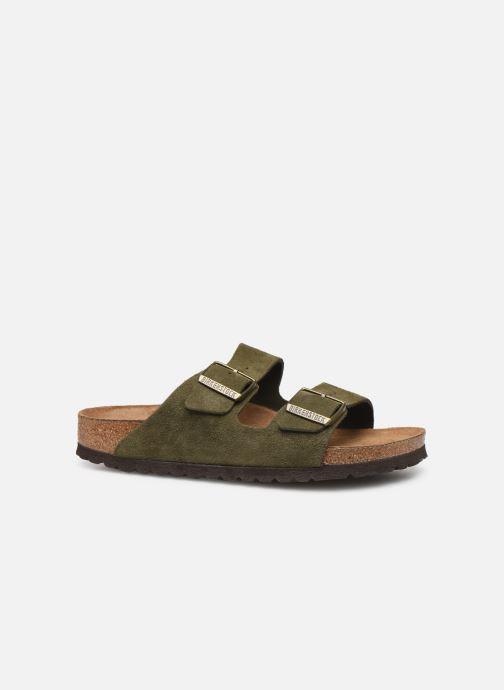 Clogs & Pantoletten Birkenstock Arizona Cuir Suede Soft Footbed W grün ansicht von hinten