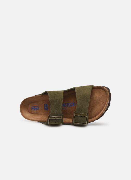Clogs & Pantoletten Birkenstock Arizona Cuir Suede Soft Footbed W grün ansicht von links