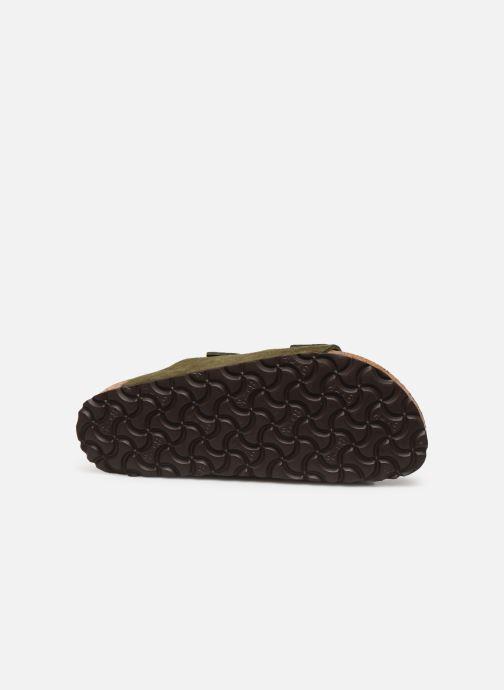 Clogs & Pantoletten Birkenstock Arizona Cuir Suede Soft Footbed W grün ansicht von oben