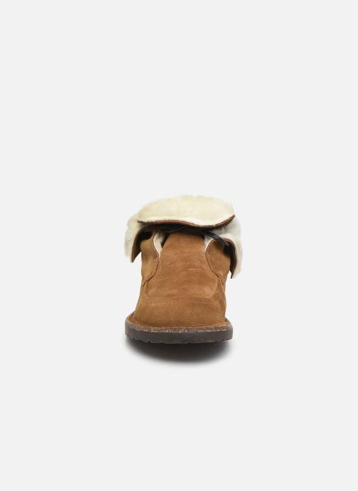 Chaussures à lacets Birkenstock Bakki Marron vue portées chaussures