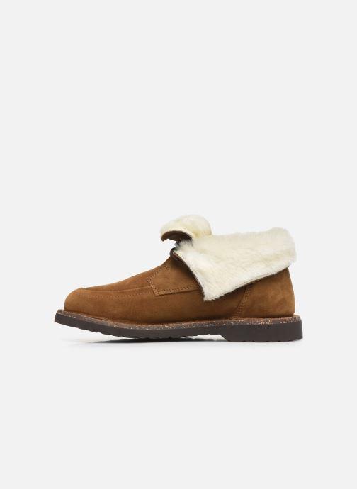 Chaussures à lacets Birkenstock Bakki Marron vue face