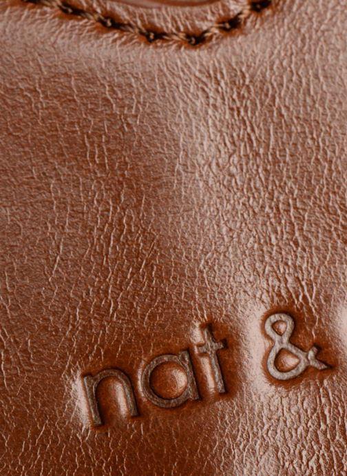 Petite Maroquinerie Nat & Nin Little Marron vue gauche