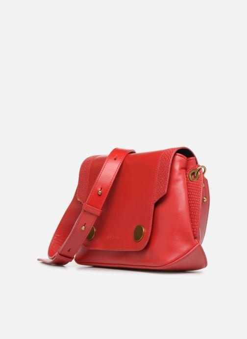 Handtaschen Nat & Nin Madlen rot schuhe getragen