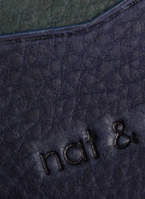 Petite Maroquinerie Nat & Nin Many Bleu vue gauche