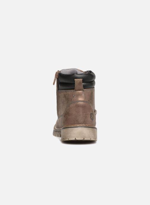 Bottines et boots Xti 55158 Or et bronze vue droite