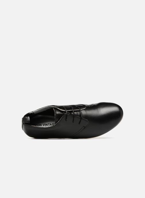 Chaussures à lacets Ippon Vintage Bic-Black Noir vue gauche