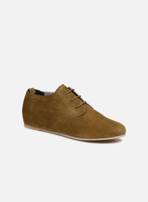 Chaussures à lacets Ippon Vintage Bic-old Vert vue détail/paire