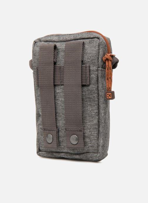 Kleine lederwaren Kuts Bodybag Zip Grijs rechts