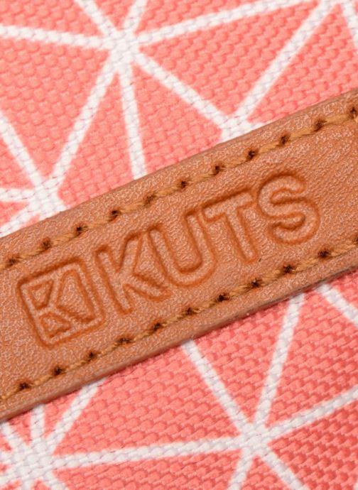 Kleine lederwaren Kuts Bodybag Zip Oranje links