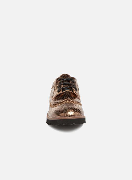 Zapatos con cordones Vanessa Wu ERGO Oro y bronce vista del modelo