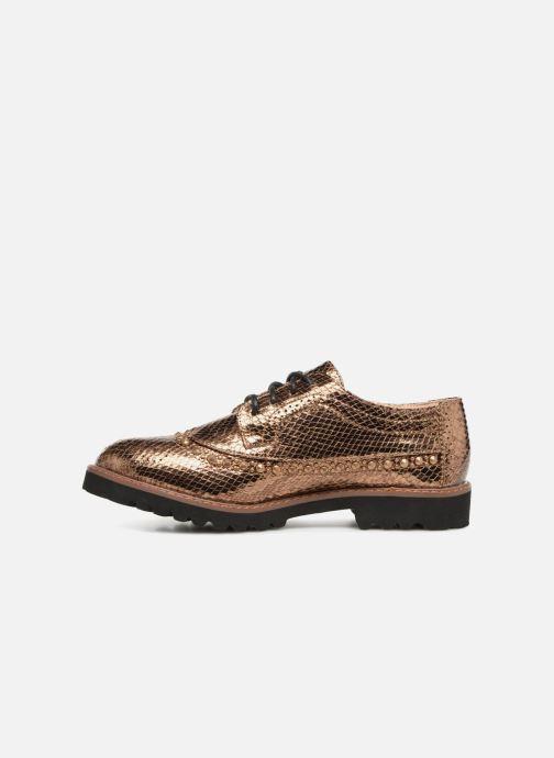 Zapatos con cordones Vanessa Wu ERGO Oro y bronce vista de frente